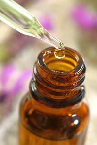 Flacon d'huiles essentielles